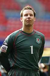 CARDIFF, WALES - SATURDAY MARCH 26th 2005: Wales' Danny Coyne lines up before the Wold Cup Qualifying match against Austria at the Millennium Stadium. (Pic by David Rawcliffe/Propaganda)