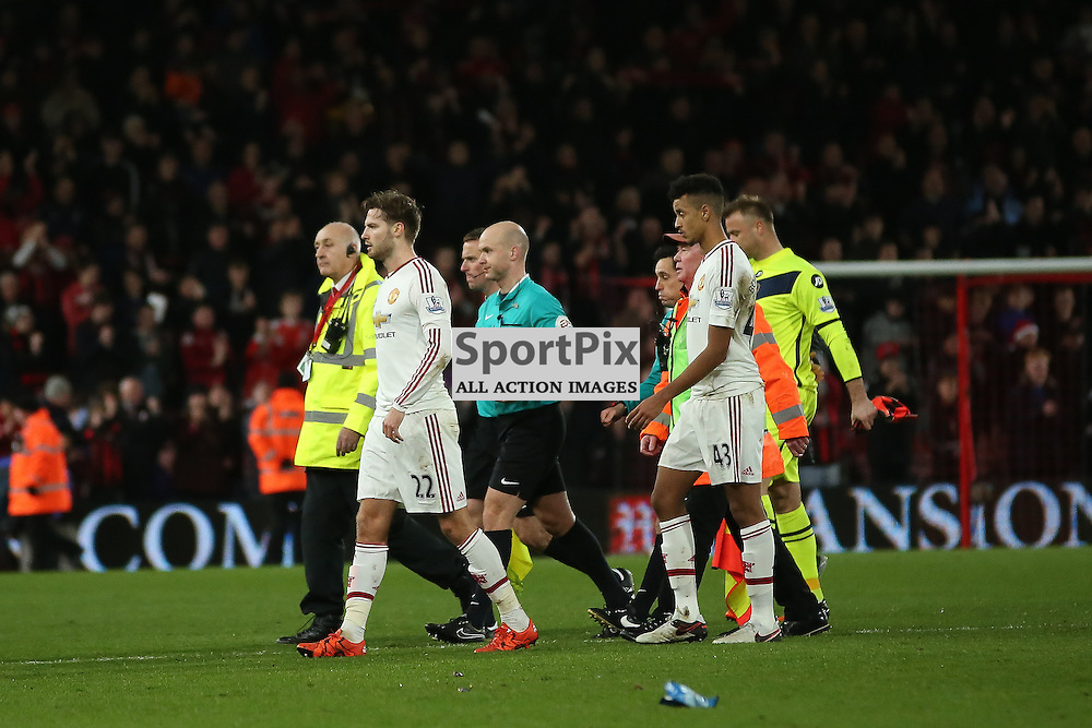 man united look dejected During Bournemouth vs Manchester United on Saturday the 12th December 2015.