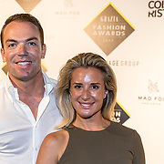 NLD/Amsterdam/20170829 - Grazia Fashion Awards 2017, Robert Doornbos en partner Chantal Bles