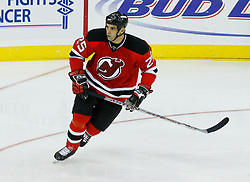 Oct 22, 2008; Newark, NJ, USA; Pierre-Luc Letourneau-Leblond skates during the third period at the Prudential Center. The Devils defeated the Stars 5-0.
