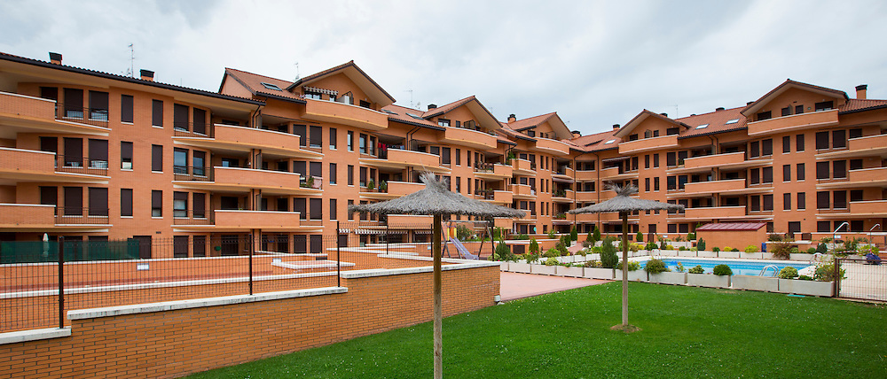 New housing development at Jaca in Northern Spain