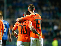 09-09-2019: Voetbal: Estland v Nederland: Tallinn<br /> Kwalificatieronde EK 2020<br /> <br /> L+R Memphis Depay of The Netherlands and Luuk de Jong of The Netherlands<br /> <br /> Foto: Dijks Fotografie / Henk Jan Dijks<br /> <br /> Foto: Henk Jan Dijks