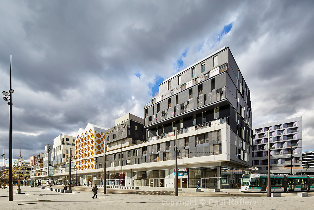 Huge Renovation of huge warehouse on Bld Macdonald in Paris. Fifteen architects have been involved in project