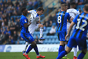 Ollie Rathbone fires in a shot during the EFL Sky Bet League 1 match between Gillingham and Rochdale at the MEMS Priestfield Stadium, Gillingham, England on 30 March 2019.