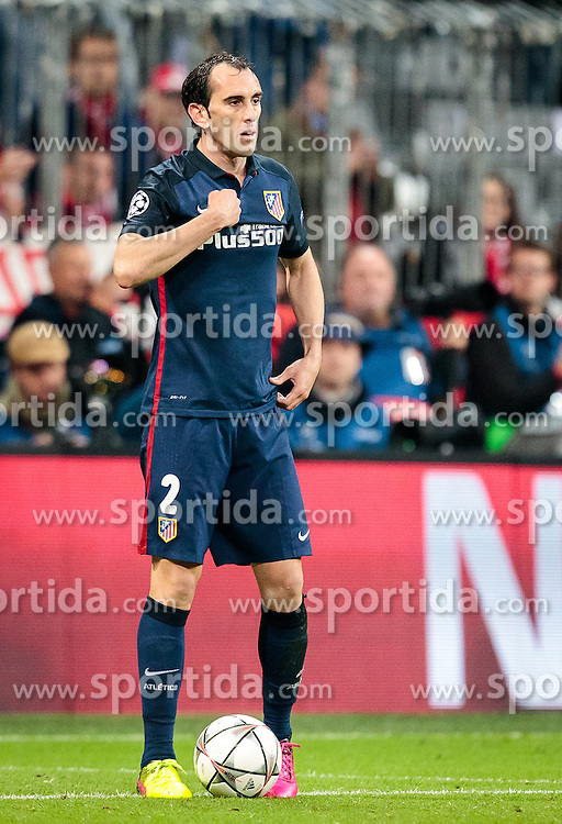 03.05.2016, Allianz Arena, Muenchen, GER, UEFA CL, FC Bayern Muenchen vs Atletico Madrid, Halbfinale, Rueckspiel, im Bild Diego Godin (Atletico Madrid) // Diego Godin (Atletico Madrid) during the UEFA Champions League semi Final, 2nd Leg match between FC Bayern Munich and Atletico Madrid at the Allianz Arena in Muenchen, Germany on 2016/05/03. EXPA Pictures © 2016, PhotoCredit: EXPA/ JFK