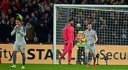 LONDON, ENGLAND - Monday, February 4, 2019: Liverpool's captain James Milner looks dejected' as West Ham United score an equalising goal during the FA Premier League match between West Ham United FC and Liverpool FC at the London Stadium. The game ended in a 1-1 draw. (Pic by David Rawcliffe/Propaganda)