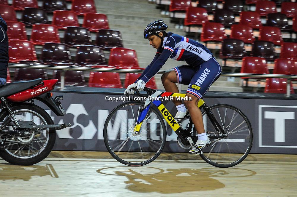 Olivia Montauban - 27.01.2015 -Entrainement Equipe de France de cyclisme sur piste - Saint Quentin en Yvelines <br />Photo : Anthony Dibon / Icon Sport
