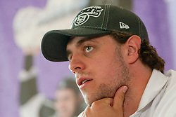 Anze Kopitar at Slovenian ice-hockey player NHL Champion Anze Kopitar welcome ceremony when he arrived home after winning Stanley Cup at the end of season 2011/2012, on June 20, 2012, at airport Jozeta Pucnika, Brnik, Slovenia. (Photo By Matic Klansek Velej / Sportida)