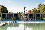 Freibad Schwanseebad, Weimar, Thüringen, Deutschland   swimming pool Schwanseebad, Weimar, Thuringia, Germany