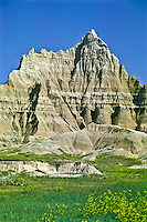 Eroded landscape near Cedar Pass.  Badlands National park, South Dakota.