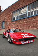 Image of a 1976 Ferrari 308 GTB race car driven by Paul Newman, Seattle, Washington, Pacific Northwest