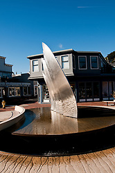 Sculpture, Coming About, Tiburon, California, USA.  Photo copyright Lee Foster.  Photo # california108872