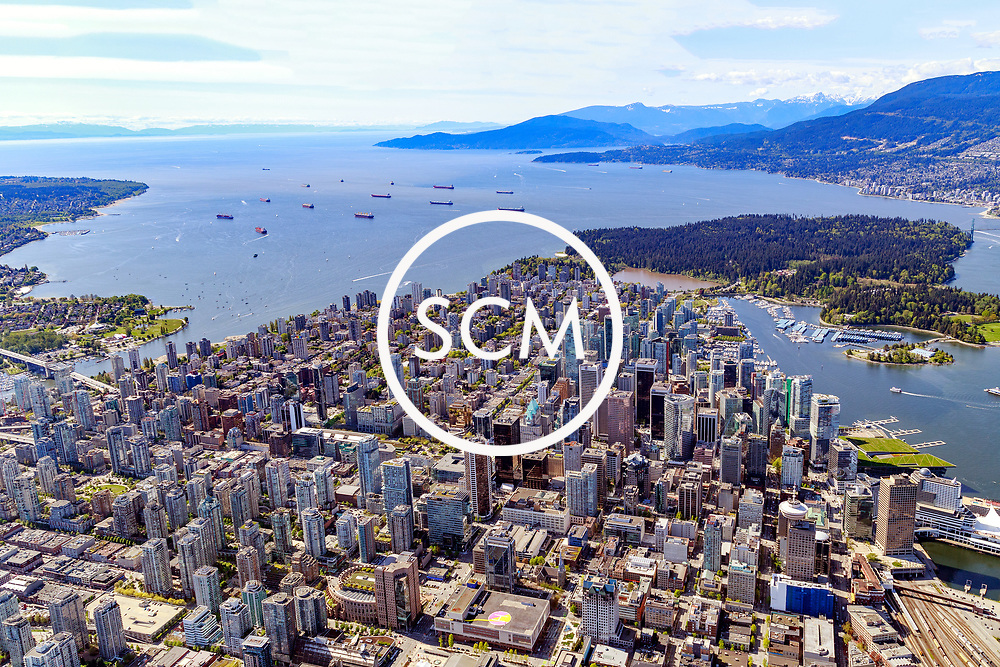 Aerial Photography Downtown Vancouver British Columbia