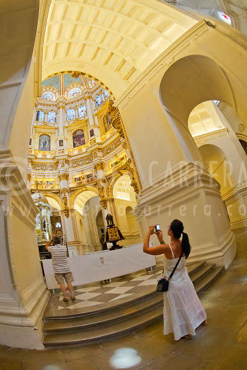Alberto Carrera, Interior View, Iglesia del Sagrario, Sanctuary Church, Granada, Andaluc&iacute;a, Spain, Europe<br />