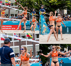 19-07-2018 NED: CEV DELA Beach Volleyball European Championship day 5<br /> Missing point for Netherlands on 26-25, set for Germany