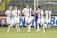 Fotball<br /> VM-kvalifisering<br /> 16.10.2012<br /> Kypros v Norge<br /> Foto: Savvides/Digitalsport<br /> NORWAY ONLY<br /> <br /> Brede Hangeland (5) jubler for utlikning til 1:1<br /> Alexander Søderlund (20) - Ruben Yttergård Jenssen (19) - Magnus Wolff Eikrem (15) - Daniel Braaten (21)