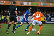 \W33\ \D\ during the EFL Sky Bet League 1 match between AFC Wimbledon and Blackpool at the Cherry Red Records Stadium, Kingston, England on 22 February 2020.