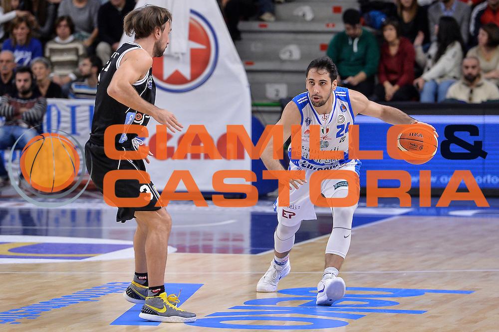 DESCRIZIONE : Campionato 2015/16 Serie A Beko Dinamo Banco di Sardegna Sassari - Dolomiti Energia Trento<br /> GIOCATORE : Rok Stipcevic<br /> CATEGORIA : Palleggio<br /> SQUADRA : Dinamo Banco di Sardegna Sassari<br /> EVENTO : LegaBasket Serie A Beko 2015/2016<br /> GARA : Dinamo Banco di Sardegna Sassari - Dolomiti Energia Trento<br /> DATA : 06/12/2015<br /> SPORT : Pallacanestro <br /> AUTORE : Agenzia Ciamillo-Castoria/L.Canu