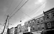 A pair of sneakers hang on a telephone wire in South Philly. In 2012  Philadelphia's murder rate was one of the deadliest in years up nearly 23% over 2011.