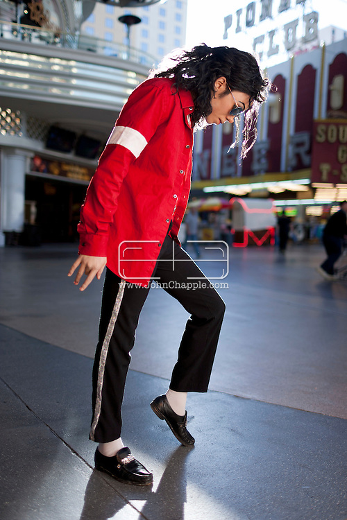 February 20th, 2012, Las Vegas, Nevada. The 21st Annual Reel Awards in Las Vegas where celebrity lookalikes show off their talents. Pictured here is 'Ice' as Michael Jackson..PHOTO © JOHN CHAPPLE / www.johnchapple.com.