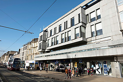 Exterior view of The New Club premises ( private members' Club) on Princes Street in New Town of Edinburgh, Scotland, United Kingdom