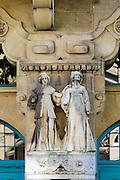 Elisabeth-Schule, Jugendstil, Mannheim, Baden-Württemberg, Deutschland