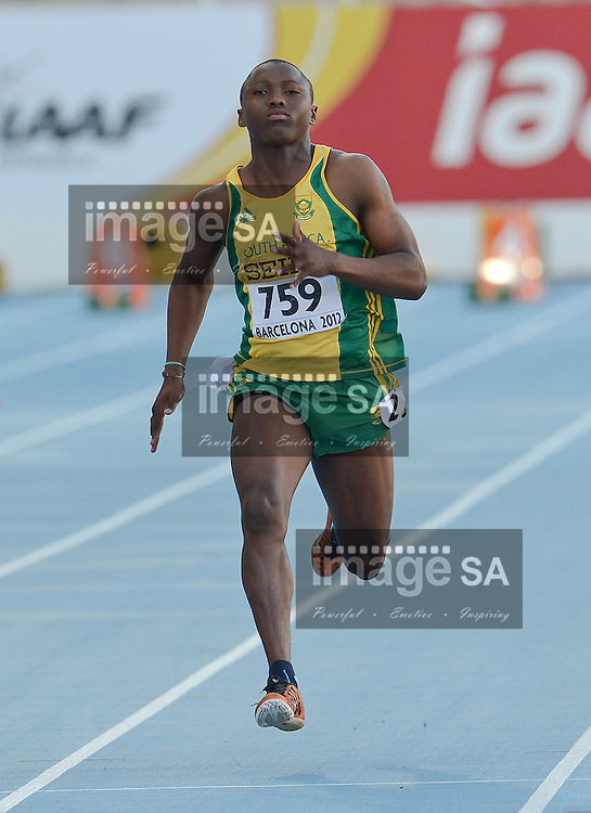 BARCELONA, Spain: Wednesday 11 July 2012, Fana Mofokeng of South Africa during the afternoon session of day 2 of the IAAF World Junior Championships at the Estadi Olimpic de Montjuic..Photo by Roger Sedres/ImageSA