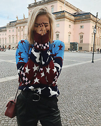 """Mandy Bork releases a photo on Instagram with the following caption: """"In case you didnt know that i love dogs, here is my new sweater \ud83d\ude02\ud83d\udc36\ud83d\udc3e #ootd #autumn"""". Photo Credit: Instagram *** No USA Distribution *** For Editorial Use Only *** Not to be Published in Books or Photo Books ***  Please note: Fees charged by the agency are for the agency's services only, and do not, nor are they intended to, convey to the user any ownership of Copyright or License in the material. The agency does not claim any ownership including but not limited to Copyright or License in the attached material. By publishing this material you expressly agree to indemnify and to hold the agency and its directors, shareholders and employees harmless from any loss, claims, damages, demands, expenses (including legal fees), or any causes of action or allegation against the agency arising out of or connected in any way with publication of the material."""