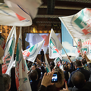 8 December, Rome: Silvio Berlusconi in front of his fans at the Forza Italia convention