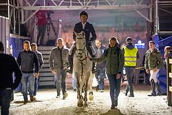 Hendrickx Dominique, BEL, Bacardi les Hauts<br /> Jumping Mechelen 2018<br /> © Hippo Foto - Sharon Vandeput<br /> 26/12/18