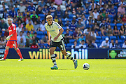 Fulham's Shaun Hutchinson  during the Sky Bet Championship match between Cardiff City and Fulham at the Cardiff City Stadium, Cardiff, Wales on 8 August 2015. Photo by Shane Healey.