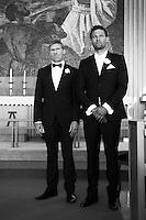 Aníta Ósk Ágústsdóttir og Hávarður Gunnarsson gifta sig í Grindavíkurkirkju 21. ágúst 2010.