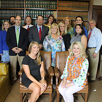 Several attorneys from the area volunteered last week for the Northeast Mississippi Free Legal Clinic at the Monroe County Chancery Courthouse. The annual clinic helps people of a certain income category with knowledge to defend themselves in chancery court.