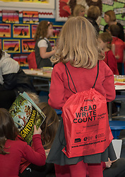 Education Secretary John Swinney was at Towerbank Primary School, Portobello, Edinburgh to give out gift packs of books and games to P2 and P3 children as part of a national campaign to improve literacy and numeracy skills.<br /> © Jon Davey/ EEm