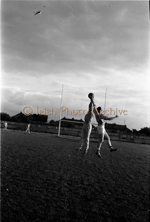 31/07/1962<br /> 07/31/1962<br /> 31 July 1962<br /> Dublin Senior Football team practice at O'Toole Park, Dublin. A full muster of the team turned out for training in preparation for All Ireland Semi Final game against Kerry.
