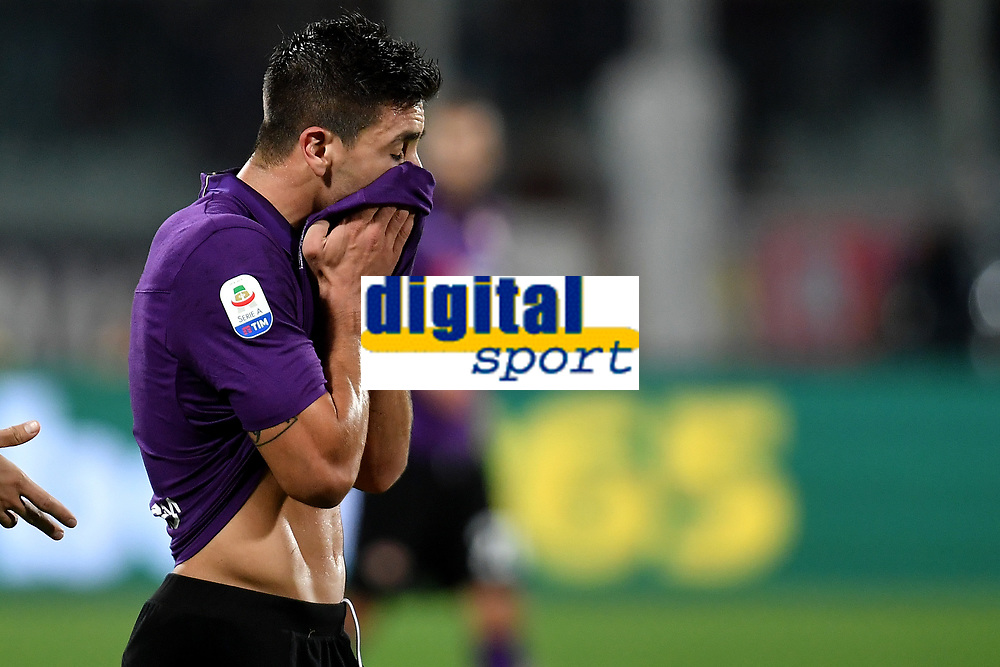 Giovanni Simeone of Fiorentina reacts during the Serie A 2018/2019 football match between ACF Fiorentina and AS Roma at stadio Artemio Franchi, Firenze, November 03, 2018 <br />  Foto Andrea Staccioli / Insidefoto