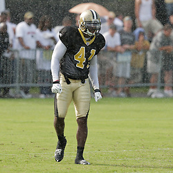 04 August 2009: New Orleans Saints safety Roman Harper (41) on the field during New Orleans Saints training camp at the team's practice facility in Metairie, Louisiana.