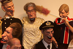 Sothebys to sell cast of satirical TV show Spitting Image. Photo shows the Royal Family are being cleaned before the show opens for viewing, July 7, 2000. Photo by Andrew Parsons / i-images...spain out