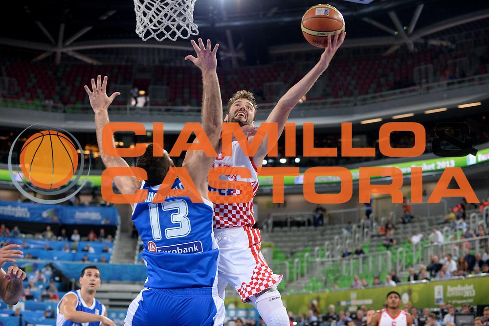 DESCRIZIONE : Lubiana Ljubliana Slovenia Eurobasket Men 2013 Second Round Grecia Croazia Greece Croatia<br /> GIOCATORE : Luksa Andric<br /> CATEGORIA : Tiro<br /> SQUADRA : Croazia Croatia<br /> EVENTO : Eurobasket Men 2013<br /> GARA : Grecia Croazia Greece Croatia<br /> DATA : 16/09/2013 <br /> SPORT : Pallacanestro <br /> AUTORE : Agenzia Ciamillo-Castoria/Max.Ceretti<br /> Galleria : Eurobasket Men 2013<br /> Fotonotizia : Lubiana Ljubliana Slovenia Eurobasket Men 2013 Second Round Grecia Croazia Greece Croatia<br /> Predefinita :