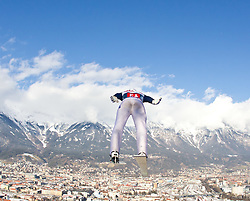 03.01.2011, Bergisel, Innsbruck, AUT, Vierschanzentournee, Innsbruck, Probedurchgang, im Bild // Prevc Peter (SLO)  // during the 59th Four Hills Tournament Trial Round in Innsbruck, EXPA Pictures © 2011, PhotoCredit: EXPA/ J. Feichter