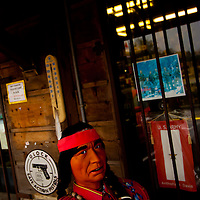 DAYTONA BEACH, FL -- A Native American animatronic figure scans at Buck's Gun Rack in Daytona Beach, Fla., on Friday, January 27, 2012. As the Florida Primary approaches, the voters along the I-4 corridor are becoming an increasingly more important path to securing a win.  (Chip Litherland for The New York Times)