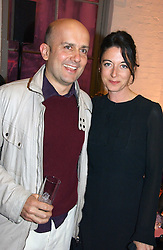 MARK QUINN and MARY McCARTNEY at a dinner hosted by Harpers Bazaar to celebrate the launch of the fragrance Flowerbomb by Viktor & Rolf held at Elms lester, Flitcroft Street, London WC2 on 31st May 2006.<br /><br />NON EXCLUSIVE - WORLD RIGHTS