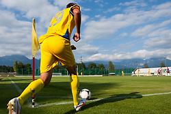 Balkovec Jure of NK Domzale during football match between NK Triglav Kranj and NK Domzale, 5th Round of Prva Liga, on 12 August, 2012, in Sportni center, Kranj, Slovenia. (Photo by Grega Valancic / Sportida)