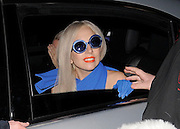 15.NOVEMBER.2011. LONDON<br /> <br /> LADY GAGA RETUTNS TO HER CENTRAL LONDON HOTEL AND STOPS IN HER CAR TO HAVE PHOTOS WITH HER LITTLE MONSTER FANS BEFORE DRIVING INTO THE UNDERGROUND GARAGE, UK.<br /> <br /> BYLINE: EDBIMAGEARCHIVE.COM<br /> <br /> *THIS IMAGE IS STRICTLY FOR UK NEWSPAPERS AND MAGAZINES ONLY*<br /> *FOR WORLD WIDE SALES AND WEB USE PLEASE CONTACT EDBIMAGEARCHIVE - 0208 954 5968*
