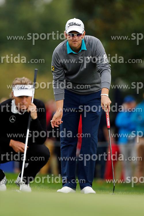 24.09.2015, Beckenbauer Golf Course, Bad Griesbach, GER, PGA European Tour, Porsche European Open, im Bild Bernd Wiesberger und Bernhard Langer // during the European Tour, Porsche European Open Golf Tournament at the Beckenbauer Golf Course in Bad Griesbach, Germany on 2015/09/24. EXPA Pictures &copy; 2015, PhotoCredit: EXPA/ SM<br /> <br /> *****ATTENTION - OUT of GER*****