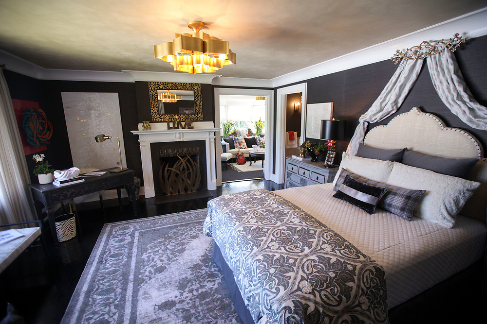 The Glam Rock Teen Bedroom - by The Art of Room Design - after renovations inside the Pasadena Showcase House of Design on Wednesday, April 12, 2017 in Pasadena, Calif. The 1916 English estate home was updated for modern living by interior and landscape designers. © 2017 Patrick T. Fallon