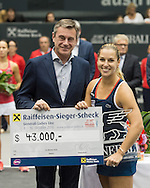 Dominika Cibulkova (SVK) wins the final of the WTA Generali Ladies Linz Open at TipsArena, Linz<br /> Picture by EXPA Pictures/Focus Images Ltd 07814482222<br /> 16/10/2016<br /> *** UK &amp; IRELAND ONLY ***<br /> <br /> EXPA-REI-161016-5033.jpg