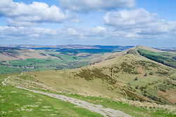 The Great Ridge Back Tor and Losehill seen from Mam Tor near Castleton in the Hope Valley <br />