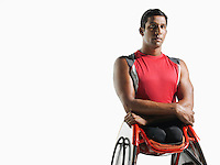 Paraplegic cycler portrait
