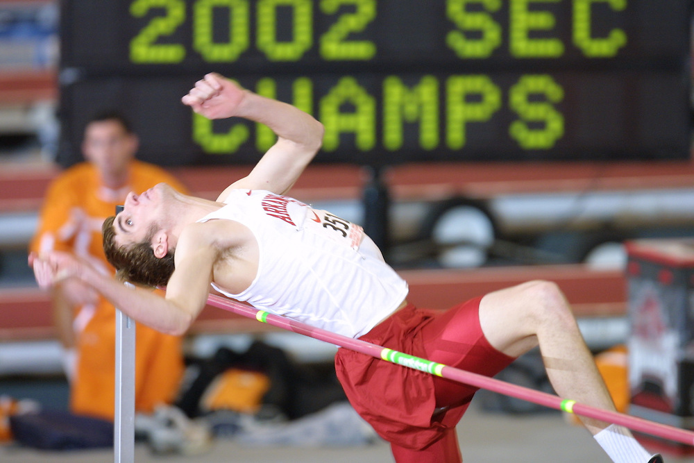 SEC Championships in Fayetteville, AR 2002University of Arkansas Razorback Track and Field Team action photography during the 2001-2002 season.